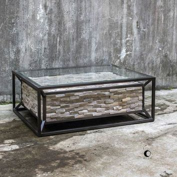 Uttermost Kono Reclaimed Teak Coffee Table On SALE