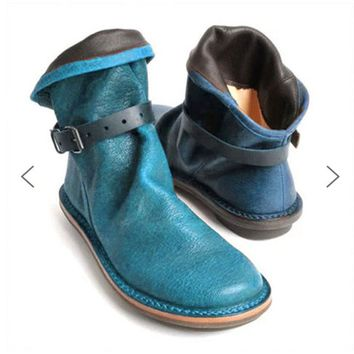 Flat Heel Casual Retro Ankle Boots