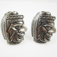 Vintage Cufflinks Indian Cuff Links Native American Mens Jewelry Gifts for Men