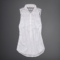 Lace Inset Shirt