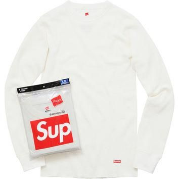 Supreme: Supreme/Hanes? Thermal Crew (1 Pack) - Off White