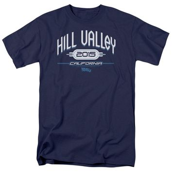 Back To The Future Ii - Hill Valley 2015 Short Sleeve Adult 18/1