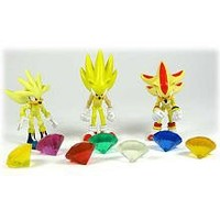 Sonic the Hedgehog Super Pack Action Figures Super Silver, Super Sonic, and Super Shadow, 3 Pack