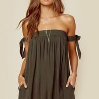 Venus Tie Sleeve Dress