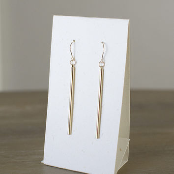 18k Spear Earrings