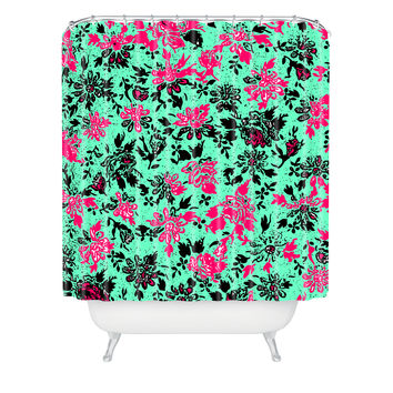 Romi Vega Vintage Wallpaper Shower Curtain