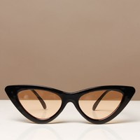 Skinny Cat Eye Shades - Black