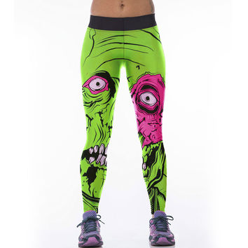 2016 New Arrival Women Leggings Green Giant Digital Print Fashion Fitness Calzas Leggins Slim Calzas Deportivas Mujer Leggings