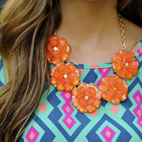 Picked For You Necklace: Clear Peach | Hope's