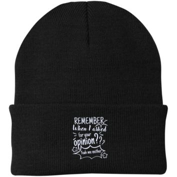 Remember When I Asked For Your Opinion??? Authority Knit Cap