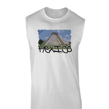 Mexico - Mayan Temple Cut-out Muscle Shirt