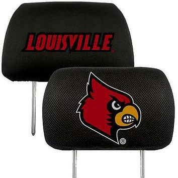 Louisville Cardinals 2-Pack Auto Car Truck Embroidered Headrest Covers