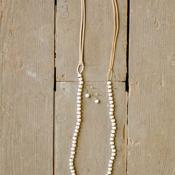 Moon Glow Necklace and Earring Set