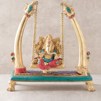 Ganesh On Swing Statue