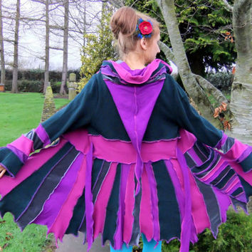 Pink Green pixie jacket - One of a Kind - XL - READY to SHIP