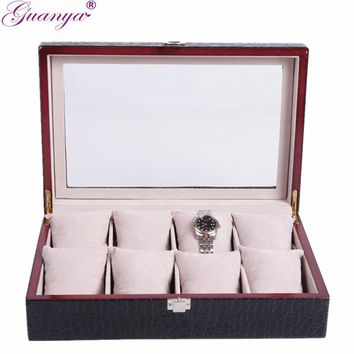 Women's- Leather- 8 Compartment Jewelry Boxes. 6 Color's To Choose From.