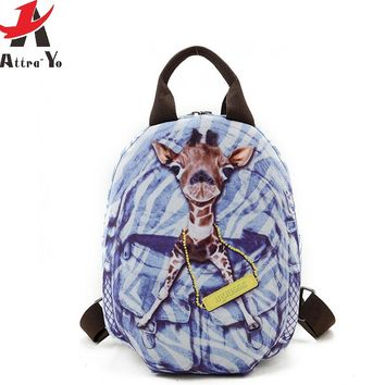 School Bags Animal Teenage girl printing Women Backpack Travel Bag high quality daily backpack