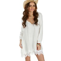 White Sunrise To Sunset Tunic