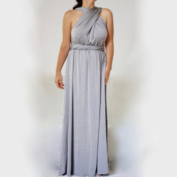 Wrap Convertible Dress Made to Measure / Infinity Multiway Dress Long Wedding Dress Bridesmaid Convertible Maxi
