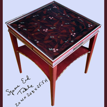 Hand Painted Furniture - Square side / end table
