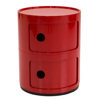 Michael Anthony Furniture Sofie's Room Red 2-Compartment Storage Unit