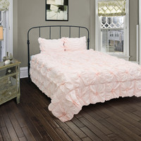 Plush Dreams Lt Pink Full/Queen Size Comforter Bed Set