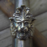 Gargoyle ring in sterling silver by Billyrebs on Etsy