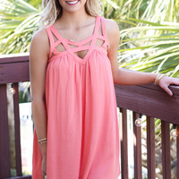City Lights Coral MuMu Dress