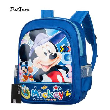 Kindergarten Waterproof Children Schoolbag Mickey Backpack Boys Girls School Bags Kids Backpack Shoulder Bag Mochila Infantil
