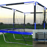 New Rectangle 10x17 Feet Trampoline + Safety Net, Pads, Mat, Ladder, Springs