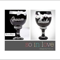 Custom Groom and Bride Pimp Cup
