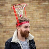 2017 funny Outdoor Fun Kids  Head Basketball Hoop Game Circle Shot Plastic Basket Parent - Child Interactive Toys Hat