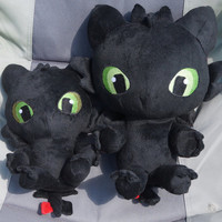 "10"" Plush Baby Toothless Dragon"