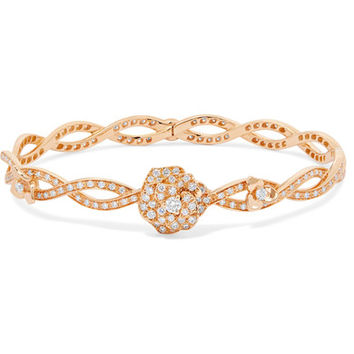 Piaget - Rose 18-karat rose gold diamond bracelet