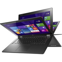 """Lenovo - Yoga 2 2-in-1 13.3"""" Touch-Screen Laptop - Intel Core i5 - 8GB Memory - 128GB Solid State Drive - Black"""
