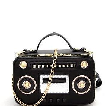 All about the Boom Box Purse Black