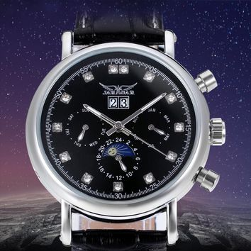 High-grade Moon Phase Auto Date Week Month Day-night Watch Men Luxury Brand Automatic Jargar Montre Gift Bo