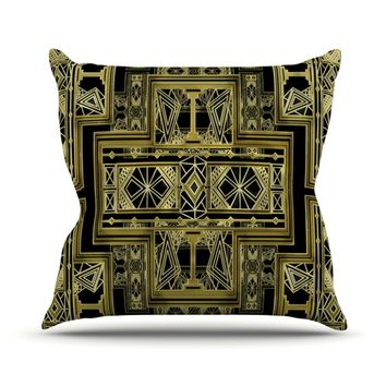 "Nika Martinez ""Golden Art Deco"" Throw Pillow"