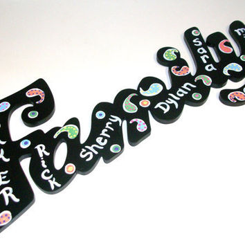 Personalized Family Wall Hanging Sign by daisybethdesigns on Etsy