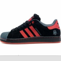 Adidas Fashion Shell-toe Flats Sneakers Sport Shoes Print Red