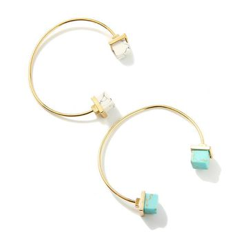 18k Gold Plated Cartier Love Bangles Natural Stone Cuff Bangle & Bracelet for Women &
