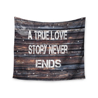 """Suzanne Carter """"True Love"""" Contemporary Typography Wall Tapestry"""