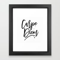 Carpe Diem Framed Art Print by allisone