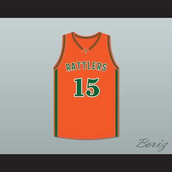DeMarcus 'Boogie' Cousins 15 LeFlore High School Rattlers Orange Basketball Jersey