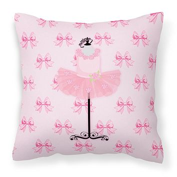 Ballerina Recital Attire Fabric Decorative Pillow BB5156PW1818