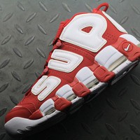 Nike Air More Uptempo Supreme x 902290-700 For Women Men Running Sport Sneakers Red