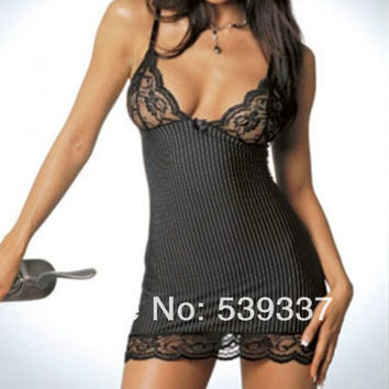 Sexy Womens Babydoll Nightdress Lingere G-string Underwear Lace Sleepwear