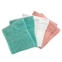 Benzoyl Peroxide-Resistant and Bleach-Friendly 6-Pack Washcloths