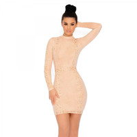 Don't Cross Me Suede Lace Up Mini Dress | Going Out Dresses