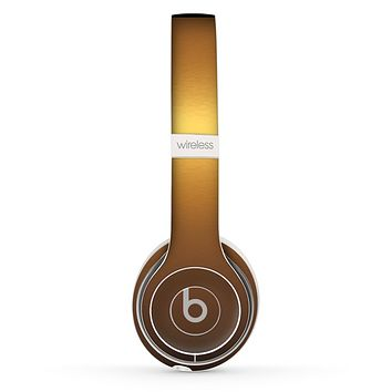 The Gold Shimmer Surface Skin Set for the Beats by Dre Solo 2 Wireless Headphones